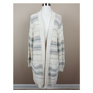 Lucky Brand | Striped Open Front Knit Cardigan